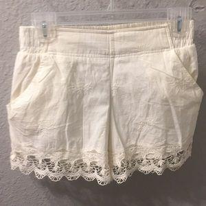 Xhilaration cream lacy shorts